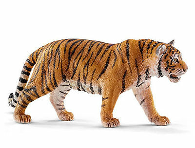 FREE SHIPPING | Schleich 14729 Tiger Walking Toy Replica - New in Package