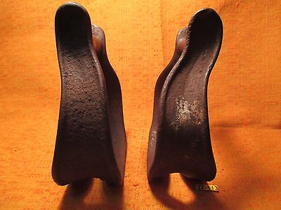 HEAVY DUTY Turner Style IRON 1880's High Back SADDLE Cowboy STIRRUPS MAKE OFFER