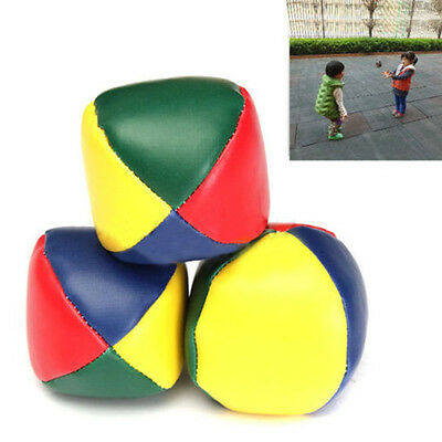 3X Juggling Ball Set Classic Bean Bag Juggle Magic Circus Beginner Kid Toy Gift