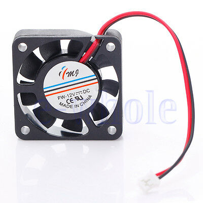 DC 12V 2 Pin 40mm Computer CPU Cooler Cooling Fan for PC Laptop Black TW