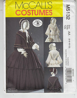 McCalls 5132 Costume Civil War Reenactment Historic Fashion Pattern Szs 6-12