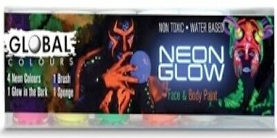NEW GLOBAL NEON GLOW FACE AND BODY PAINT SET Party Supplies