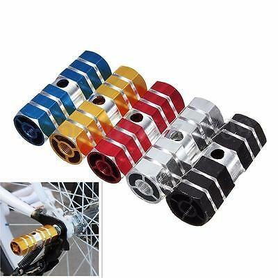 "2pcs BMX MTB Scooter Cylinder Alloy Pedal 3/8"" Bike Bicycle Axle Foot Stunt Pegs"