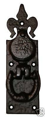 Yale Lock Cover, Pull & Door Knocker in Black Cast Iron (AB159)