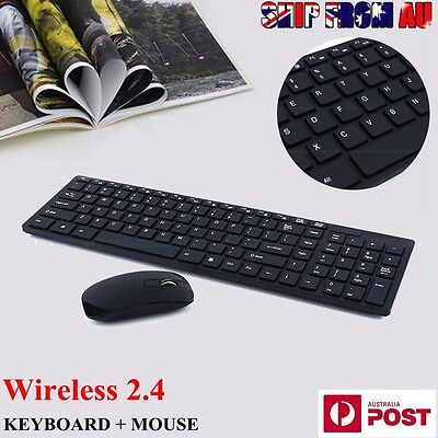 Wireless Keyboard and Mouse Combo USB Kit Cordless For PC Laptop Windows XP