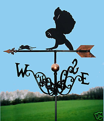 Owl & Mouse Weathervane - Handmade  - Very High Quality