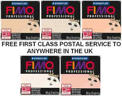STAEDTLER  Fimo New Professional Doll Art 85g Oven Baked Clay 5 Popular Colours
