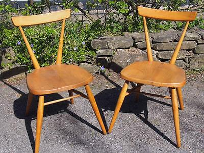 Very Iconic Rare Pair of Ercol Blonde Early 1950's Large Childs Stacking Chairs