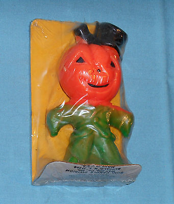 vintage Halloween SUNI CANDLE scarecrow in sealed package