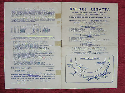 1944 WW2 Rowing Programme Barnes Red Cross Prisoner of War Sporting FC7