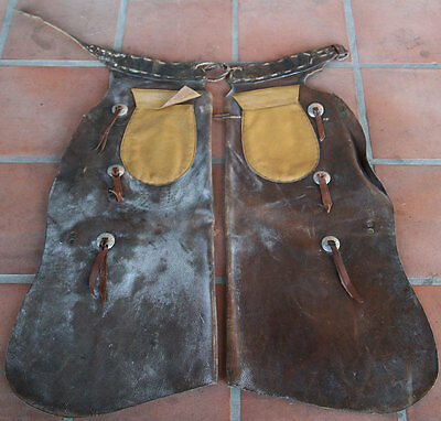 Leather Batwing Chaps with Added Pockets