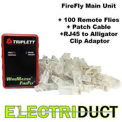 WireMaster FireFly 3290 Rapid LAN Mapping Tool w/ 100 Re Usable Remotes Triplett
