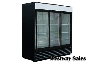 True GDM-69 Glass Sliding 3 Door Commercial Merchandiser Refrigerator Cooler
