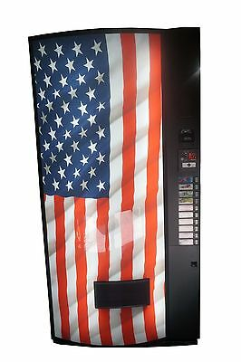 Vendo Univendor 2 Multi Price Soda Vending Machine Bottles&Cans USA Flag Graphic