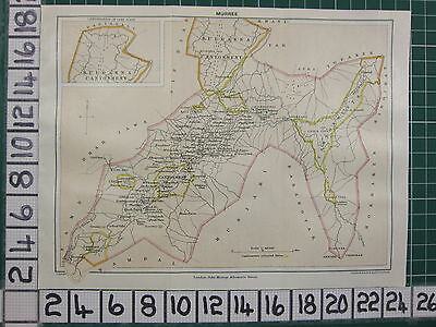 1926 India Indian Tourist Map ~ Murree Kuldanna Cantonment Pinnacle Hill Hotel