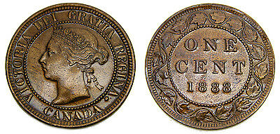 Canada 1888 Large Cent Queen Victoria MS-60B Lacquered