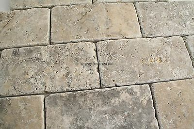 Silver Travertine Tumbled Tiles 150x75mm
