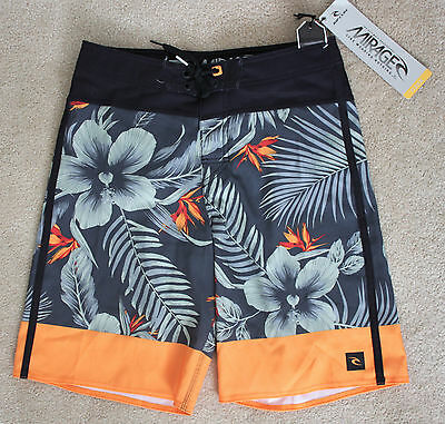 New RIP CURL Boy's Kids MIRAGE BRAZEN Board Shorts / Swim Trunks - ORANGE - 27