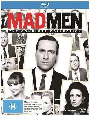 Mad Men: The Complete Collection Seasons 1 - 7 | Boxset - Blu Ray Region B Free
