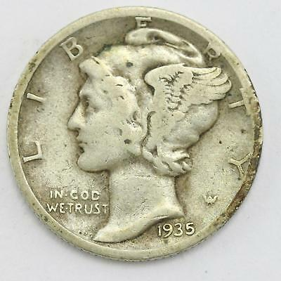 1935 USA Mercury Head Winged Liberty Head Dime Coin Lot AF