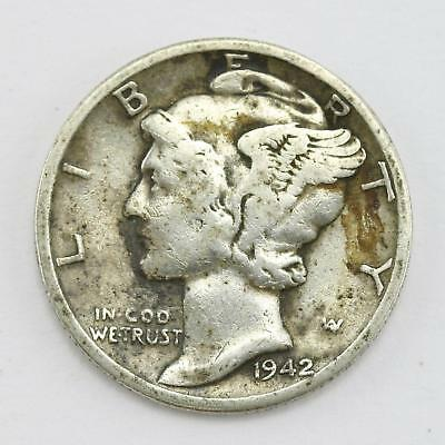 1942 USA Mercury Head Winged Liberty Head Dime Coin Lot BB
