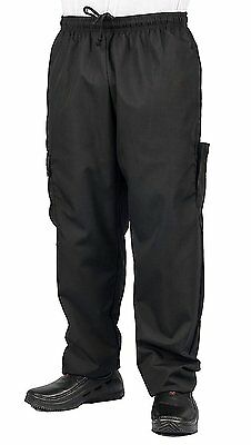 Black Cargo Style Chef Pant, XL