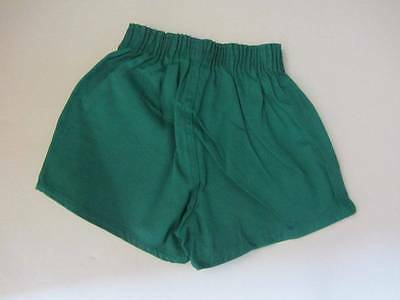 original childrens vintage sports shorts ages 8 - 12 Green American New 70's