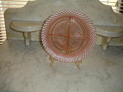 Miss America Pink Depression Glass 4 Section Relish Dish