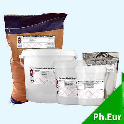 Magnesium Chloride Hexahydrate 98.0-101% Ph.Eur - Select pack size 100g - 25KG