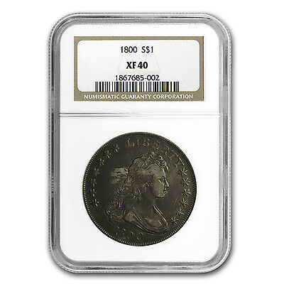 1800 Draped Bust Dollar XF-40 NGC - SKU #87565