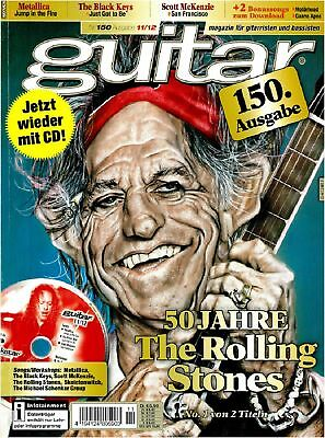 Guitar Magazin 11 2012 mit Playalong CD 50 Jahre The Rolling Stones Songs