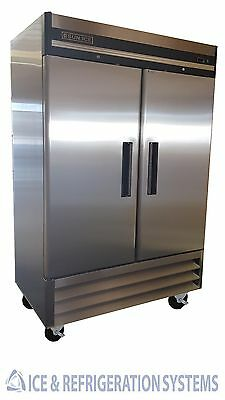Sun Ice Commercial 49cf Stainless Steel 2 Door Reach In Freezer SUNRF46