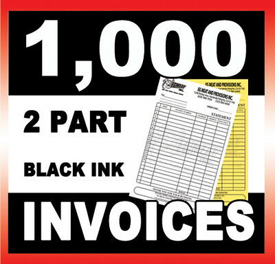 1000 Sets 2 Part Carbonless Ncr Invoices Forms Custom Printed Great Quality
