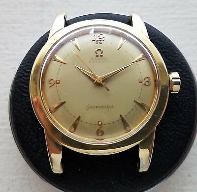 Selling Used Vintage Omega 354 Bumper Wind in a Yellow Gold over Stainless Case.