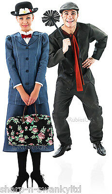 Couples Mary Poppins and Bert Victorian Matching Fancy Dress Costumes Outfits