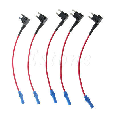 New 5Pcs ATM Fuse Adapter Tap Dual Circuit Adapter Holder for Auto Car Truck