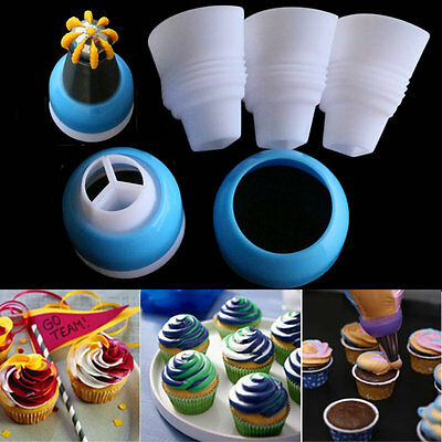 Adapter 3 Color Icing Piping Nozzle Converter Cake Baking Cream Decorating Tools