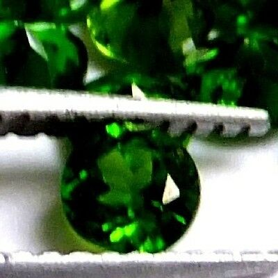NATURAL SPARKLING GREEN CHROME DIOPSIDE LOOSE GEMSTONES (1piece) ROUND (4.9 mm)