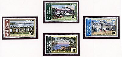 Stamp / Timbre Des Comores Pa N° 45/48 ** Paysages D'anjouan