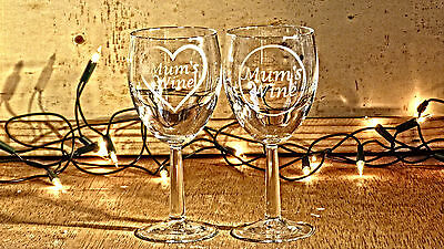 Personalised Engraved Wine Glass with Gift Box, Any Message Engraved