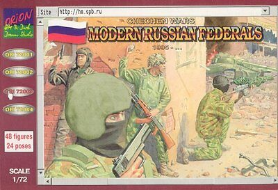 Orion 1/72 72003 Chechen Wars Modern Russian Federals (46 Figures, 23 Poses)
