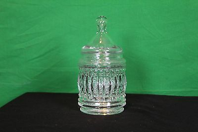 Clear Cut Glass Candy Dish With Lid Nut Bowl Decorative Collectible Potpourri