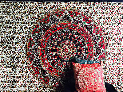 Indian Tapestry Wall Hanging Mandala Throw Elephant Star Circle Psychedelic Twin