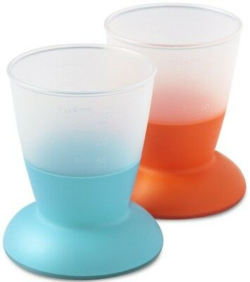 BabyBjorn Baby Cup 2 Pack - Turquoise/Orange