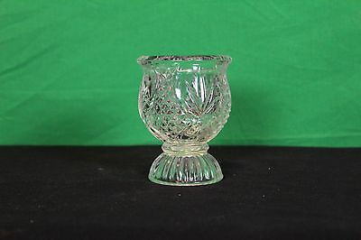 Small Avon Cut Glass Flower Vase Decorative Collectible Candle Holder Potpourri