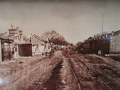 ANTIQUE VINTAGE CHINA CHINESE TURN 19th CENTURY FOOCHOW ROAD SHANGHAI RARE PHOTO