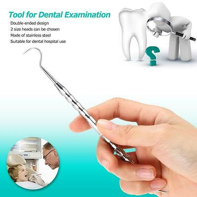 Stainless Steel Tooth Scaler Dental Examination Medical Teeth Cleaning Tool L9P8