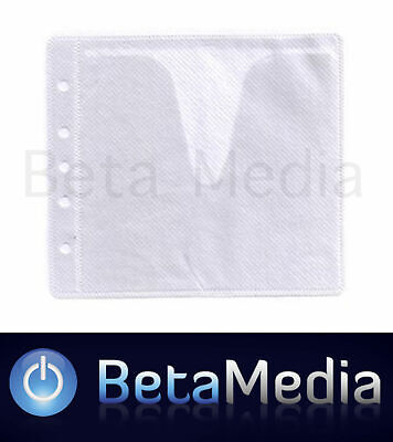 4000 x White CD / DVD Double Sided Plastic Sleeves - Holds 8000 discs