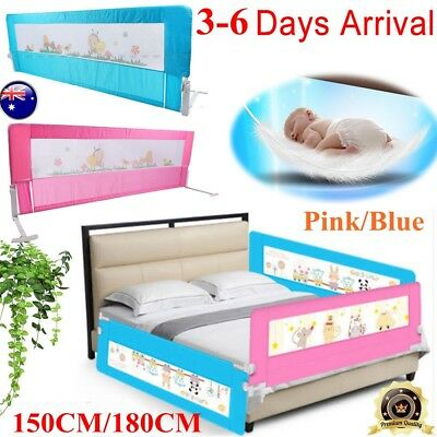 Child Toddler 150/180cm Safety Bed Rail Baby Bedrail Fold Cot Guard Protection