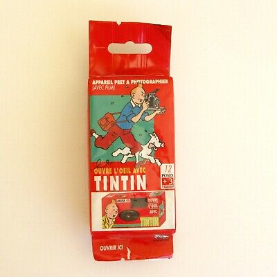 Appareil photo jetable agfa 12 poses - Collector - Ouvre l'oeil avec TINTIN  -